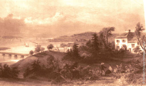 Town of Windsor Nova Scotia circa 1836