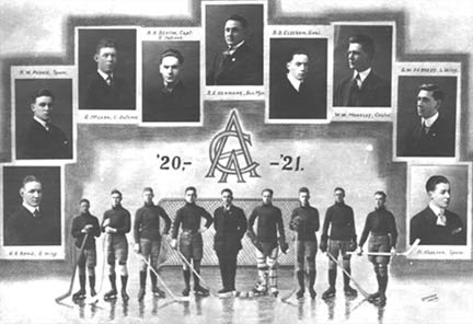 1920-1921 Acadia Hockey Team