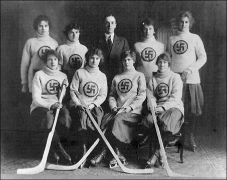 Edmonton Swastikas Hockey Team 1916