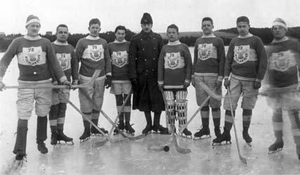 Team Photo of the Pictou Highlanders 1914 Ice Hockey Team