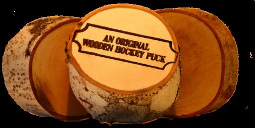 original wooden hockey pucks