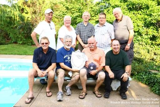 1924 Starr Shield with Windsor Hockey Heritage Board